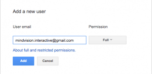 add a new user google search console